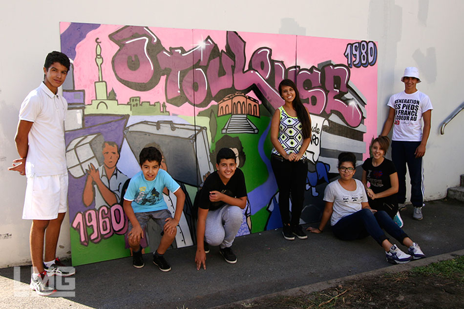 photo décoration graffiti toulouse lmg