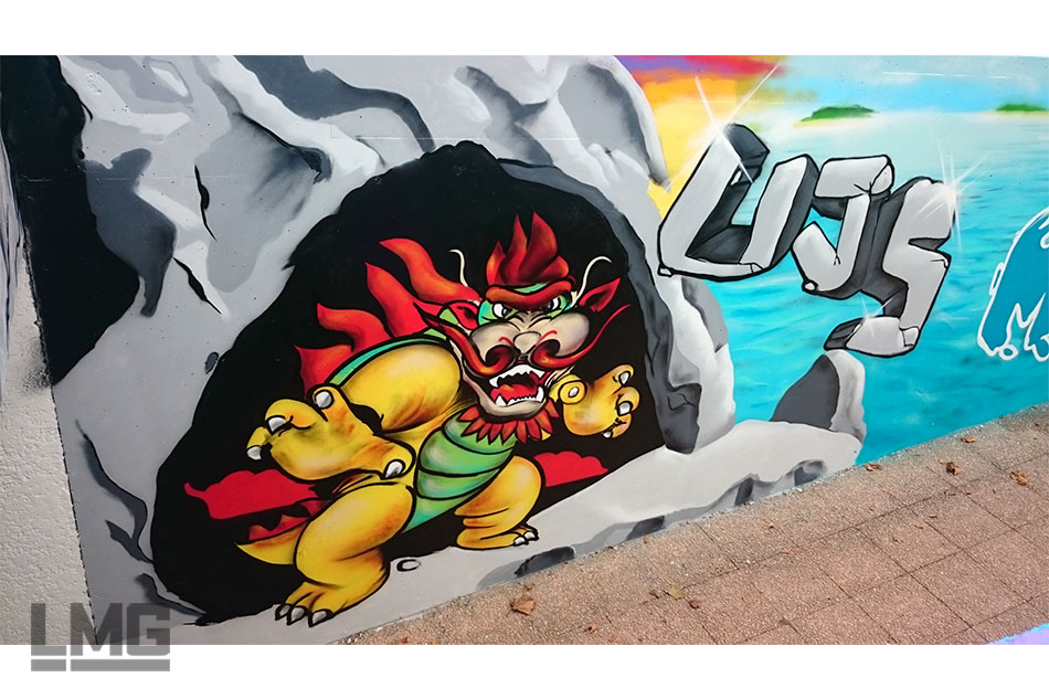 photo  graff en gare SNCF Muret Le Mouvement Graphique