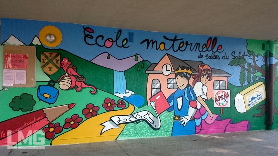 Le mouvement graphique graffiti toulouse for Decoration porte ecole