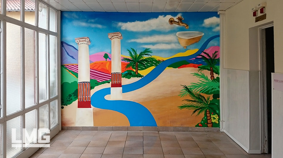 decoration tageur professionel fresque team building