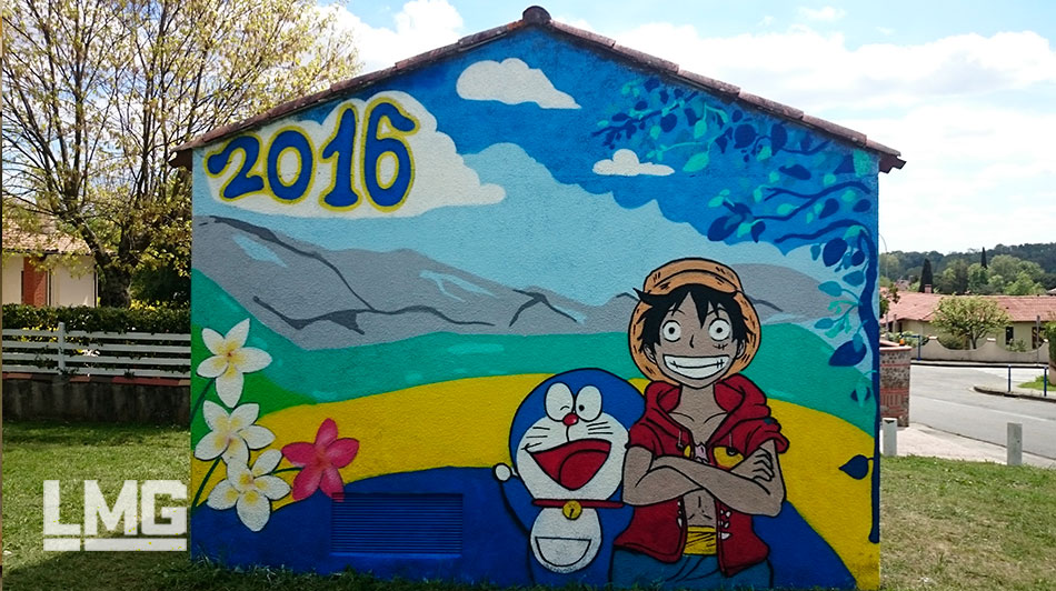 decoration tageur fresque participative mobilier urbain