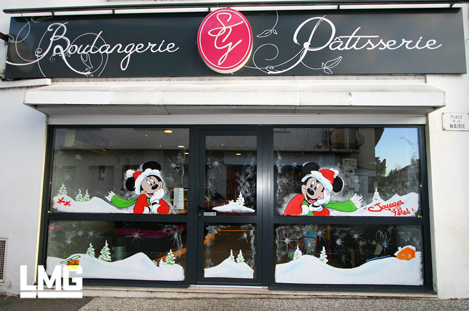 decoration graffiti artiste vitrine toulouse