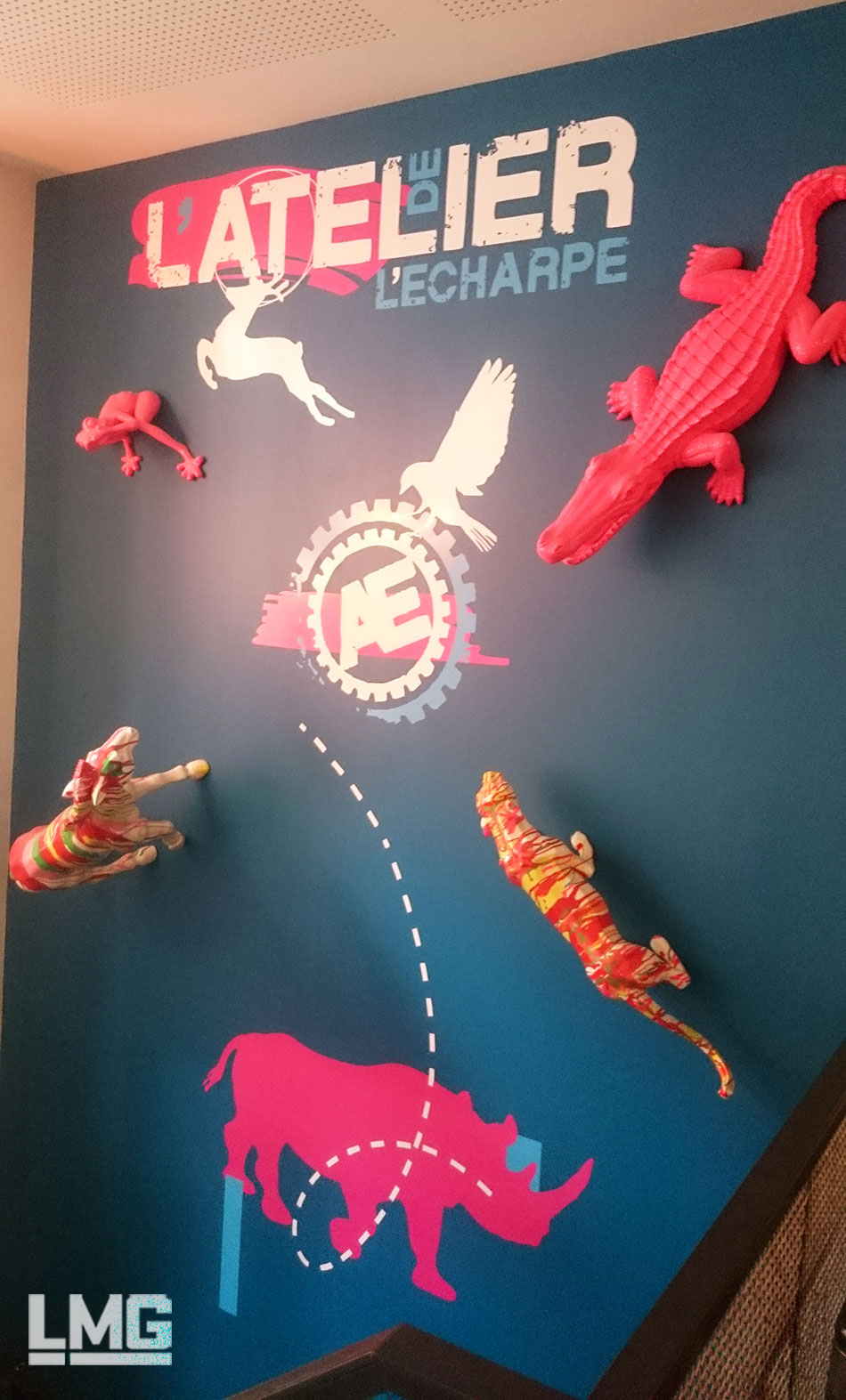 décoration murale art restaurant toulouse