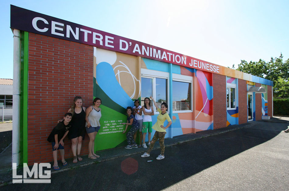 fresque participative atelier décoration graffiti toulouse