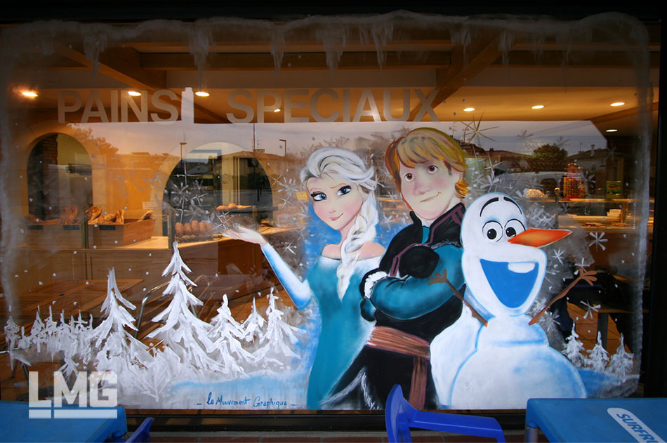 decoration graffiti artiste vitrine noel toulouse