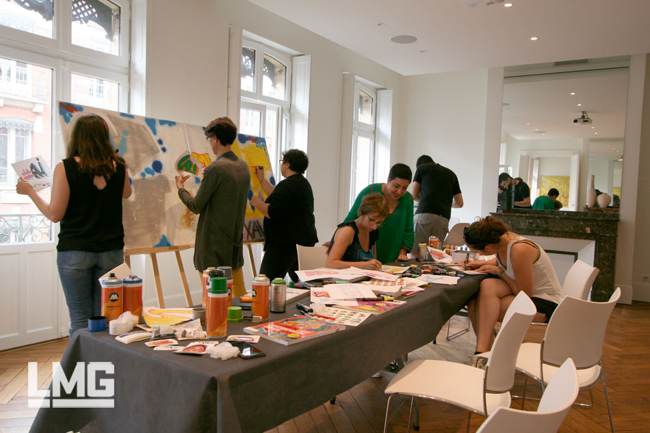 graffiti street-art LMG Le Mouvement Graphique team building toulouse