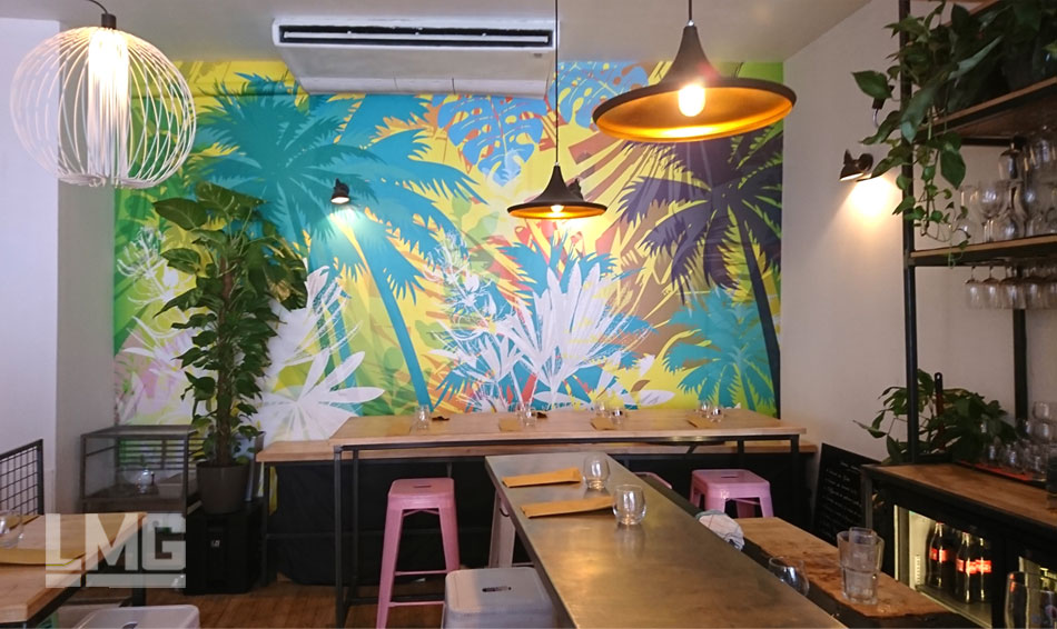 papier peint décoration restaurant bar toulouse lmg