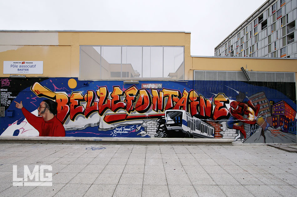 fresque street art décoration artiste tageur graffiti toulouse