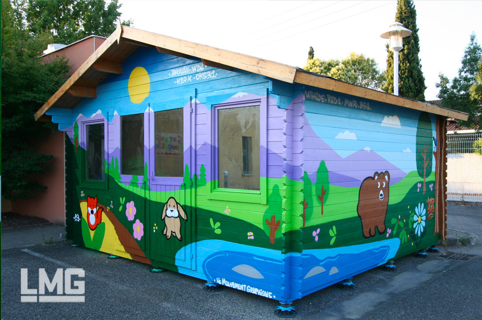 fresque art urbain tour de france 2019 artiste tisseo graffiti toulouse