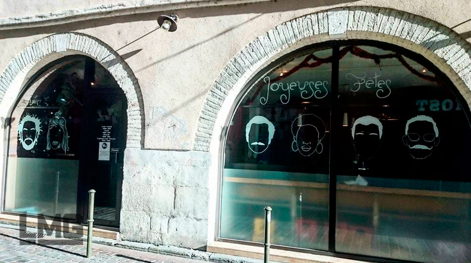 vitrophanie vinyle bar toulouse