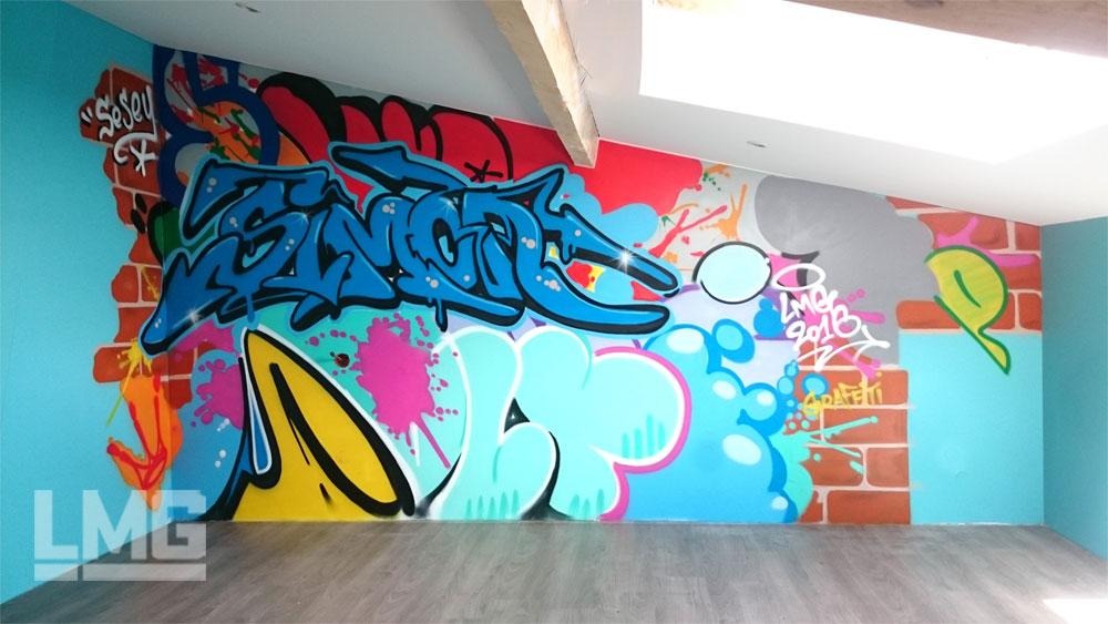 Le mouvement graphique graffiti toulouse for Deco murale graphique